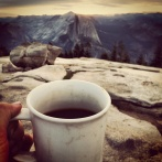 Yosemite Park Coffee View of Half Dome