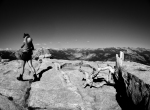 Yosemite Sentinel Dome Black and White Photo View of Half Dome